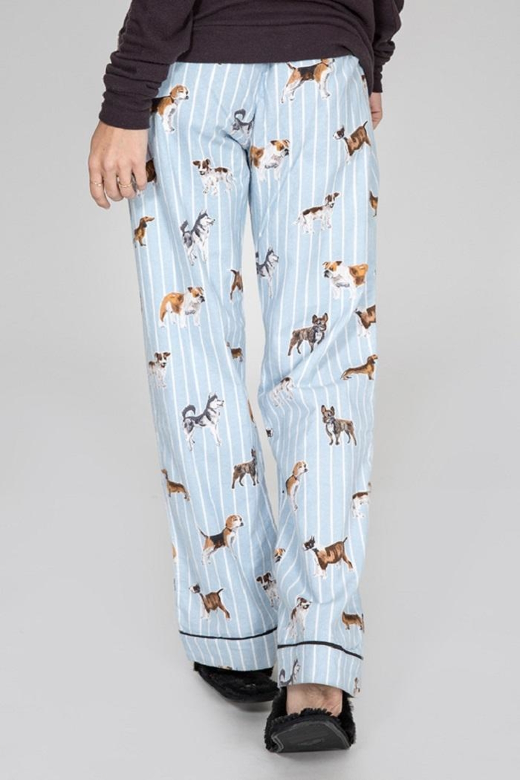 PJ Salvage Doggone Tired Flannel - Side Cropped Image