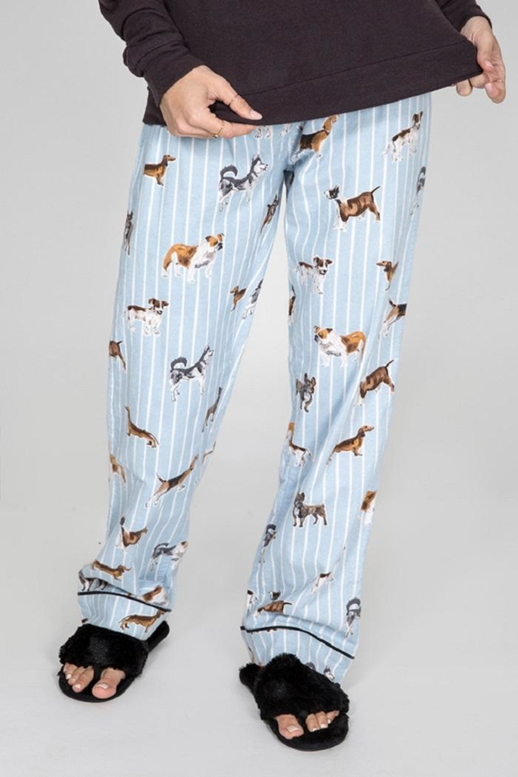 PJ Salvage Doggone Tired Flannel - Front Full Image