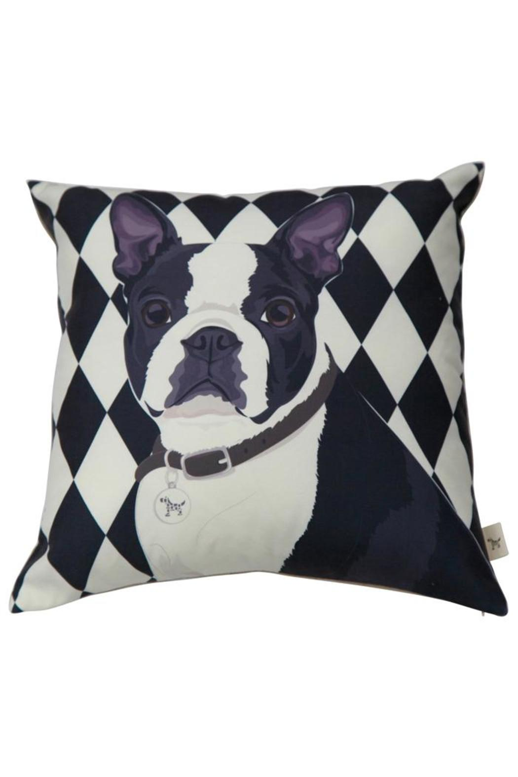 dogolove boston terrier pillow from california by dogo love  - dogolove boston terrier pillow  front cropped image