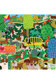 Eeboo Dogs in the Park 1000 Piece Puzzle - Product Mini Image