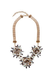 Dogwood Lane Blue Crystal Statement Necklace - Product Mini Image
