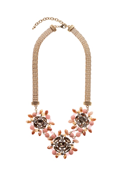 Shoptiques Product: Pink Crystal Statement Necklace