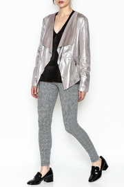 Dolce Cabo Metallic Leather Jacket - Side cropped