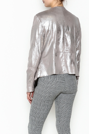 Dolce Cabo Metallic Leather Jacket - Back cropped