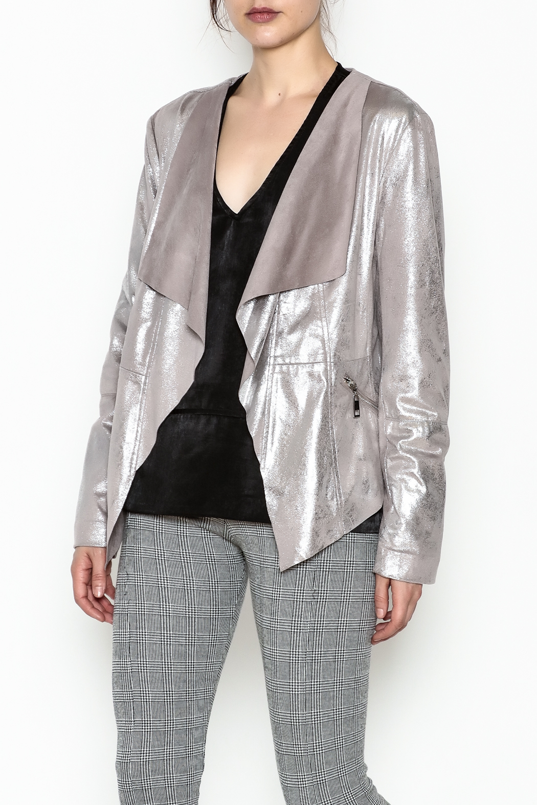 Dolce Cabo Metallic Leather Jacket - Main Image