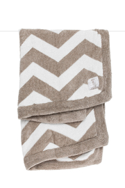 LITTLE GIRAFFE Dolce Chevron Baby Blanket - Flax - Product Mini Image