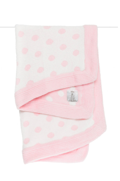 LITTLE GIRAFFE Dolce Knit Boxed Pink Dot Blanket - Alternate List Image