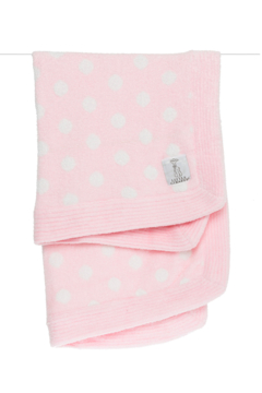 LITTLE GIRAFFE Dolce Knit Boxed Pink Dot Blanket - Product List Image