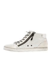 Dolce Vita White Zip-Up Sneaker - Product Mini Image