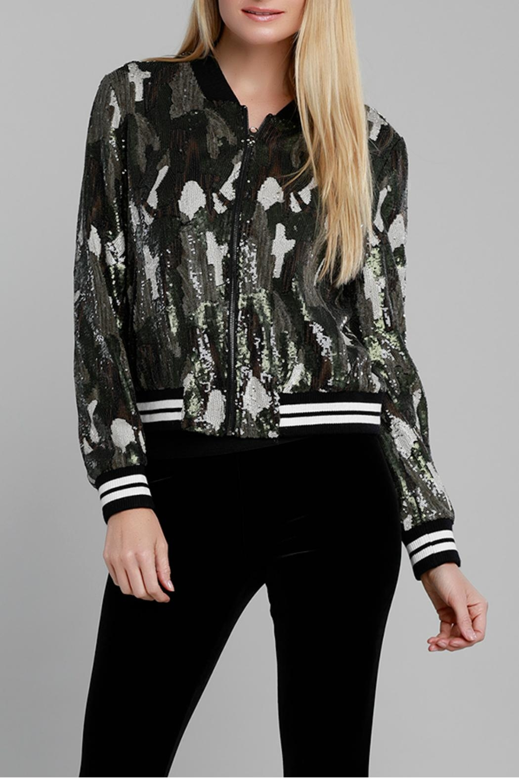 Dolce Cabo Camo Sequin Bomber - Main Image