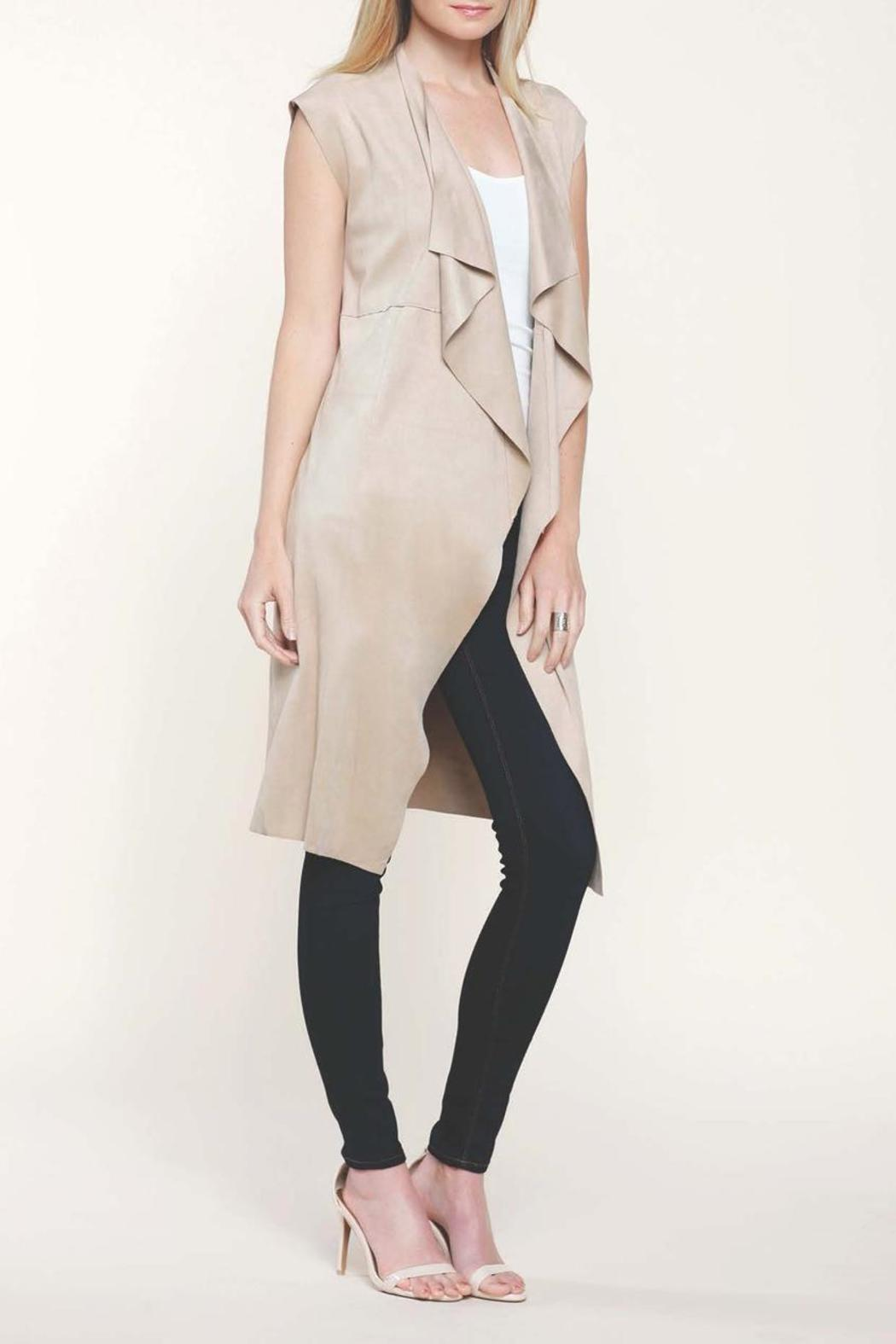 Dolce Cabo Faux Suede Duster Vest - Main Image