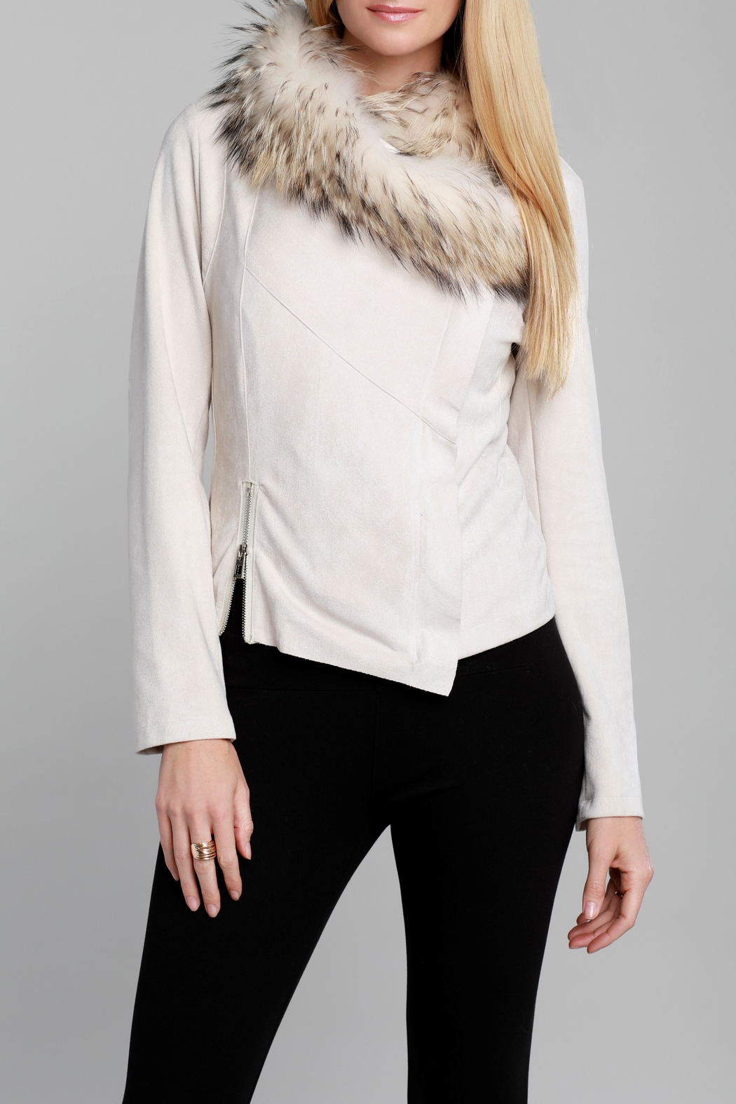 Dolce Cabo Faux Sueded Jacket - Main Image