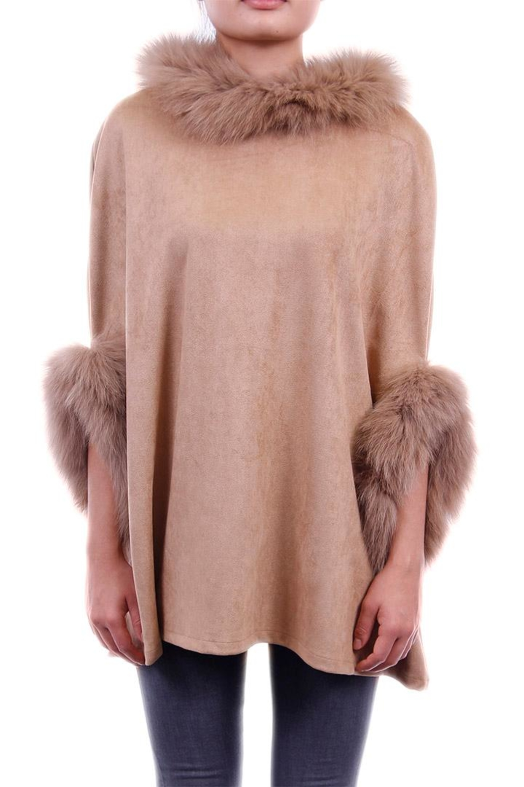 Dolce Cabo Faux Sueded Poncho - Front Cropped Image