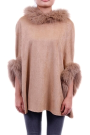Dolce Cabo Faux Sueded Poncho - Front cropped
