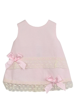 Dolce Petit Pink Pique & Lace Dress - Alternate List Image