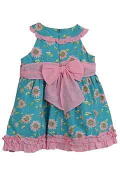 Dolce Petit Teal Sunflower Dress - Alternate List Image