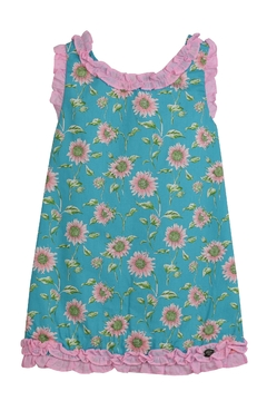 Dolce Petit Teal Sunflower Dress - Product List Image