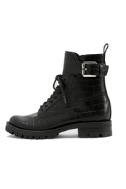 Dolce Vita Black Leather Boot - Front cropped