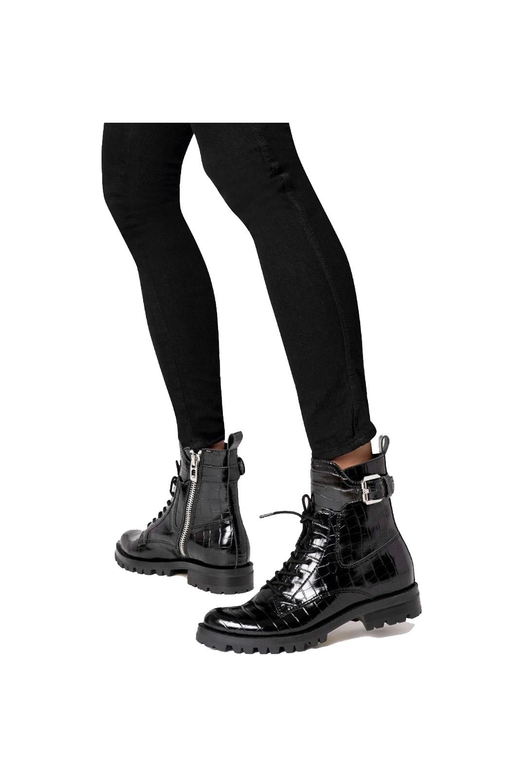Dolce Vita Black Leather Boot - Side Cropped Image