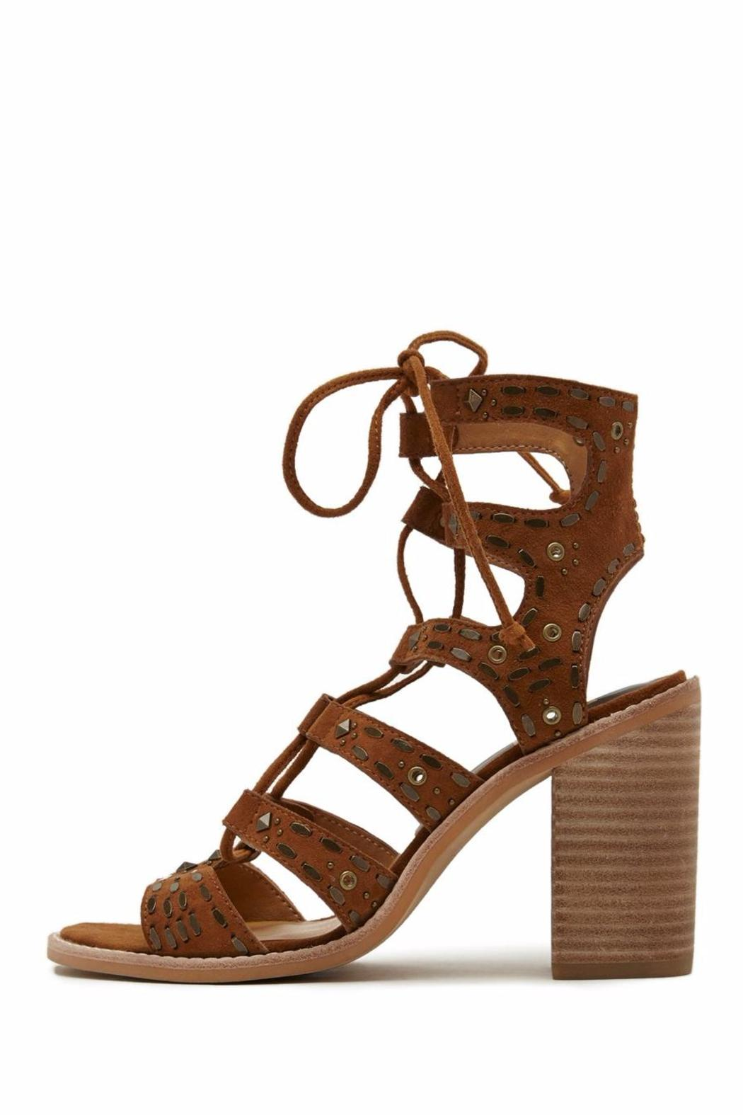 Dolce Vita Boho Lace-Up Heels - Front Cropped Image