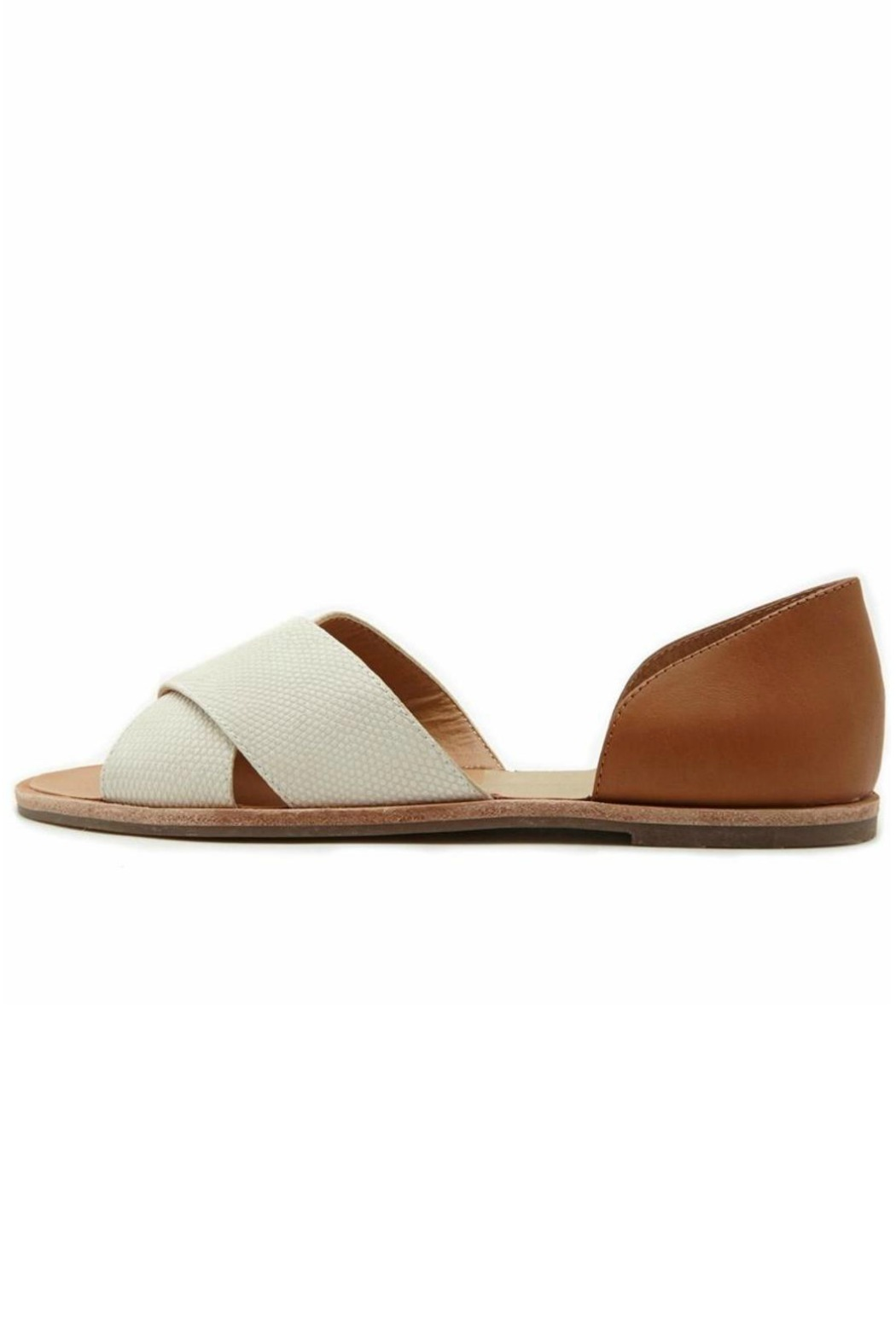 Dolce Vita Cross Peep-Toe Flat - Front Cropped Image