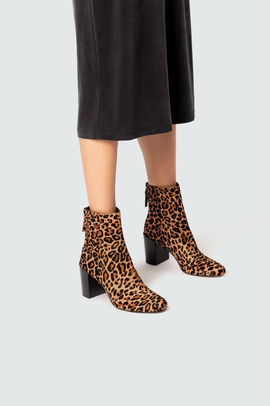 Dolce Vita Cyan Leopard-Calf Boots - Front Full Image