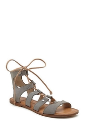 Dolce Vita Gray Gladiator Sandal - Front full body