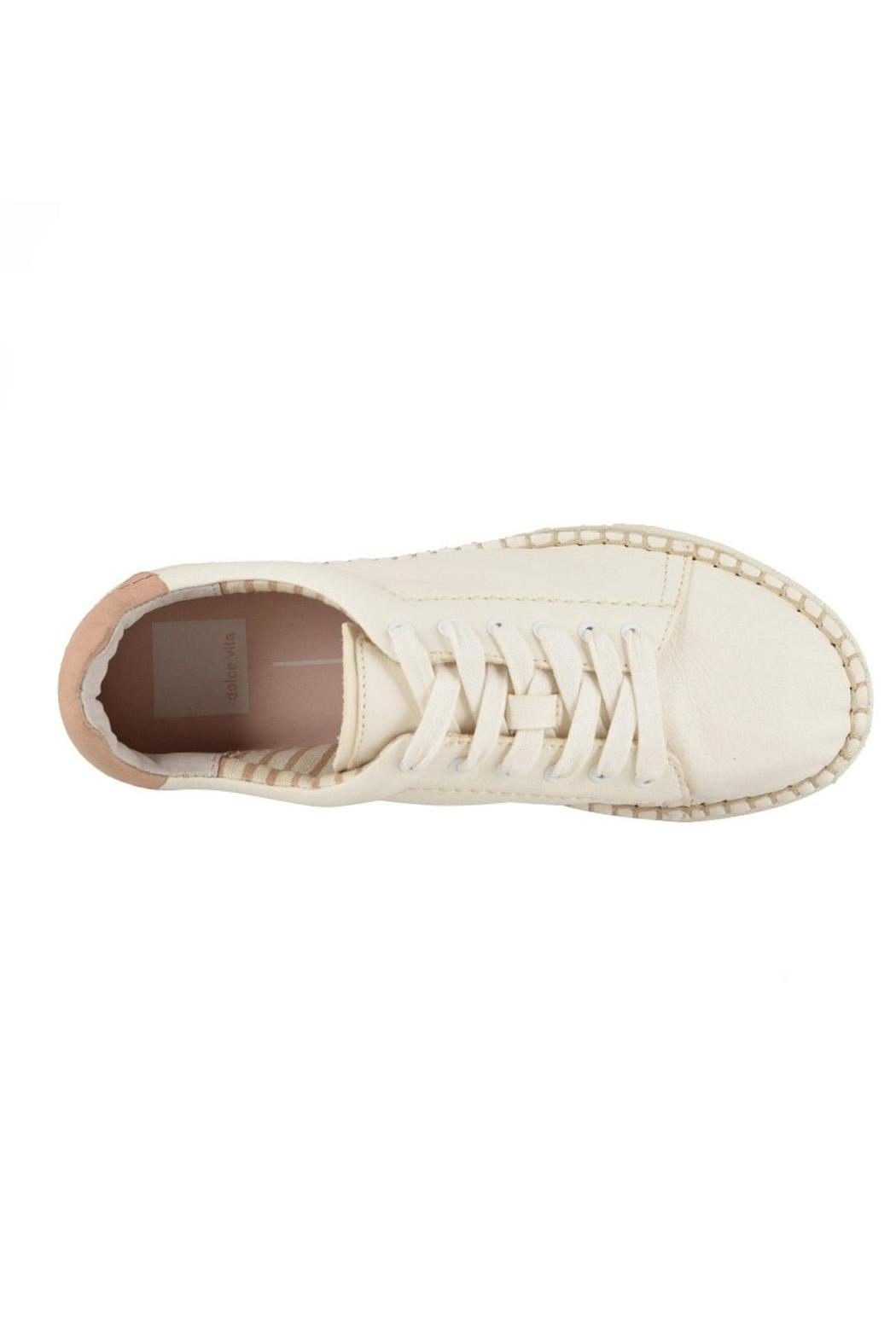 Dolce Vita Ivory Leather Sneakers - Side Cropped Image