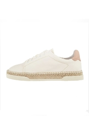 Dolce Vita Ivory Leather Sneakers - Front cropped