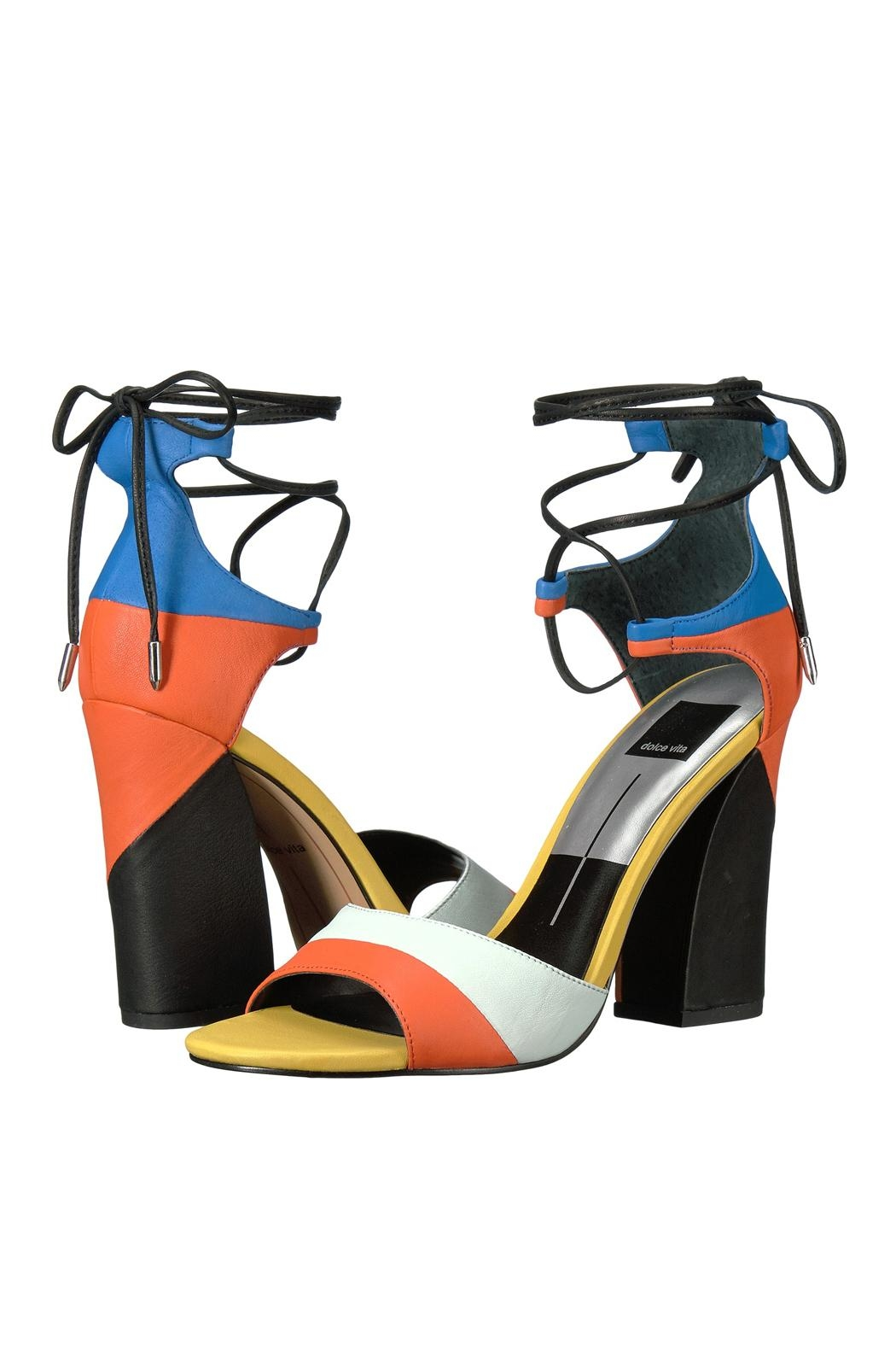 Dolce Vita Multi Colored Wrap Up Heel - Front Full Image