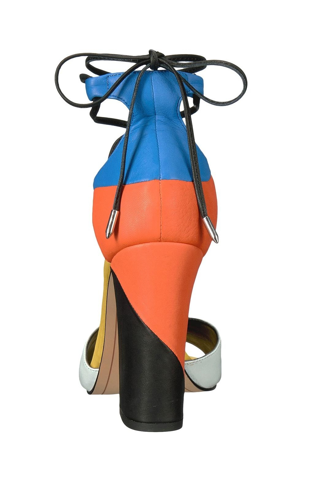 Dolce Vita Multi Colored Wrap Up Heel - Back Cropped Image