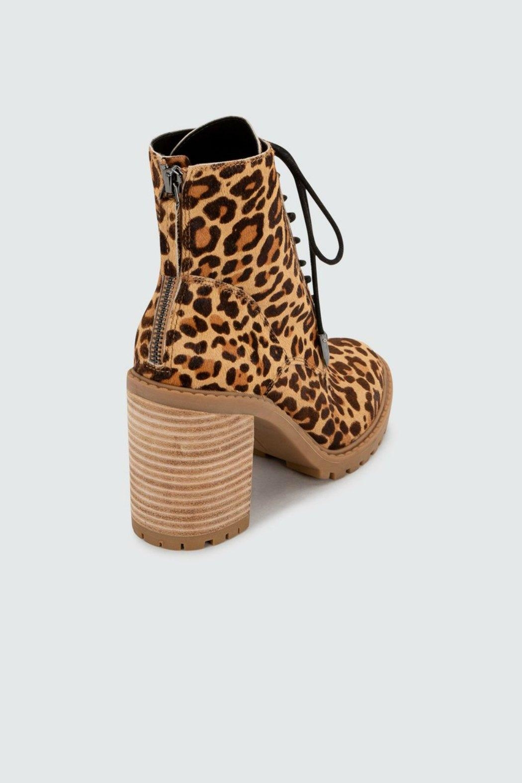 Dolce Vita Norma Leopard Heeled-Bootie - Side Cropped Image