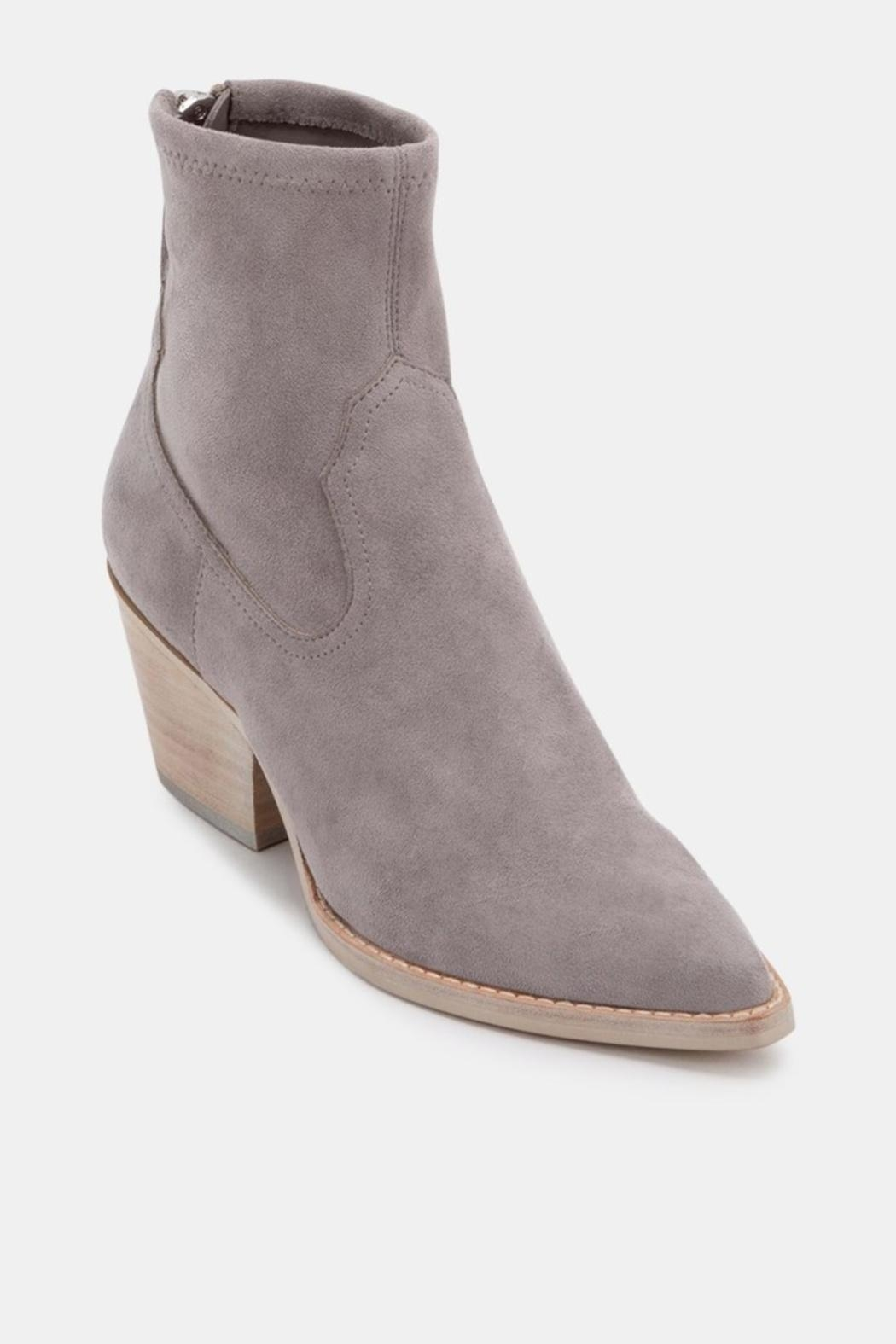 Dolce Vita Shanta Suede Booties - Front Cropped Image