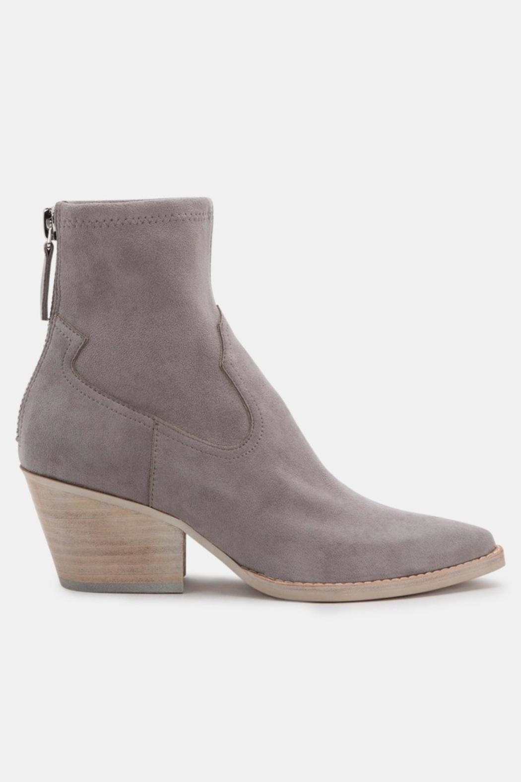Dolce Vita Shanta Suede Booties - Front Full Image