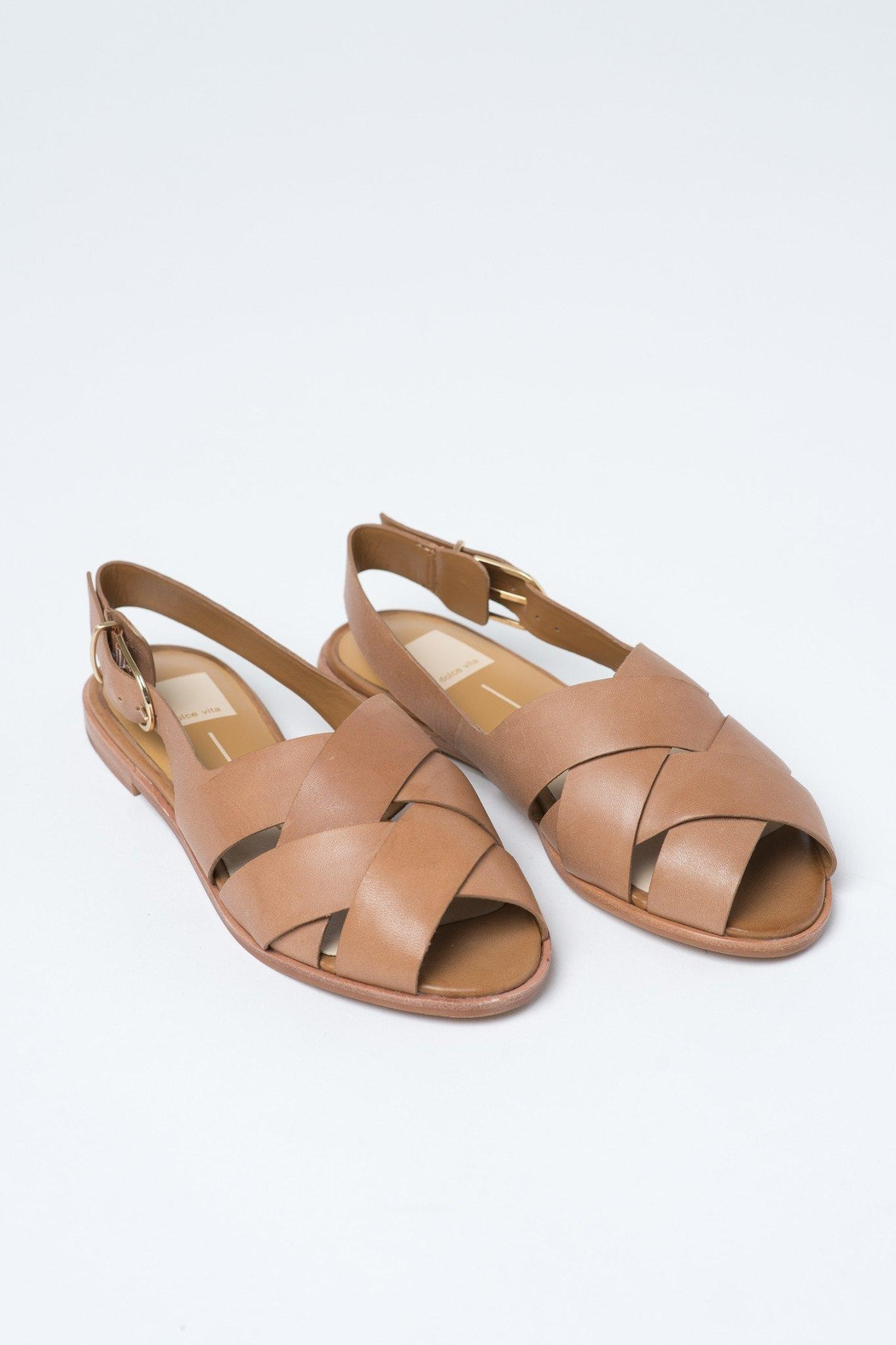 Dolce Vita Tan Bay Sandals - Front Cropped Image