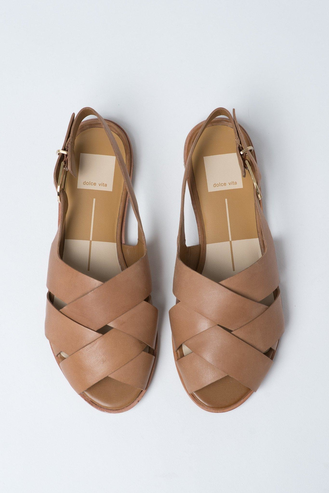Dolce Vita Tan Bay Sandals - Front Full Image