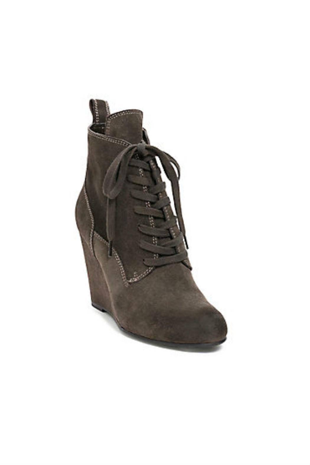 Dolce Vita Wedge Lace-Up Bootie - Front Full Image