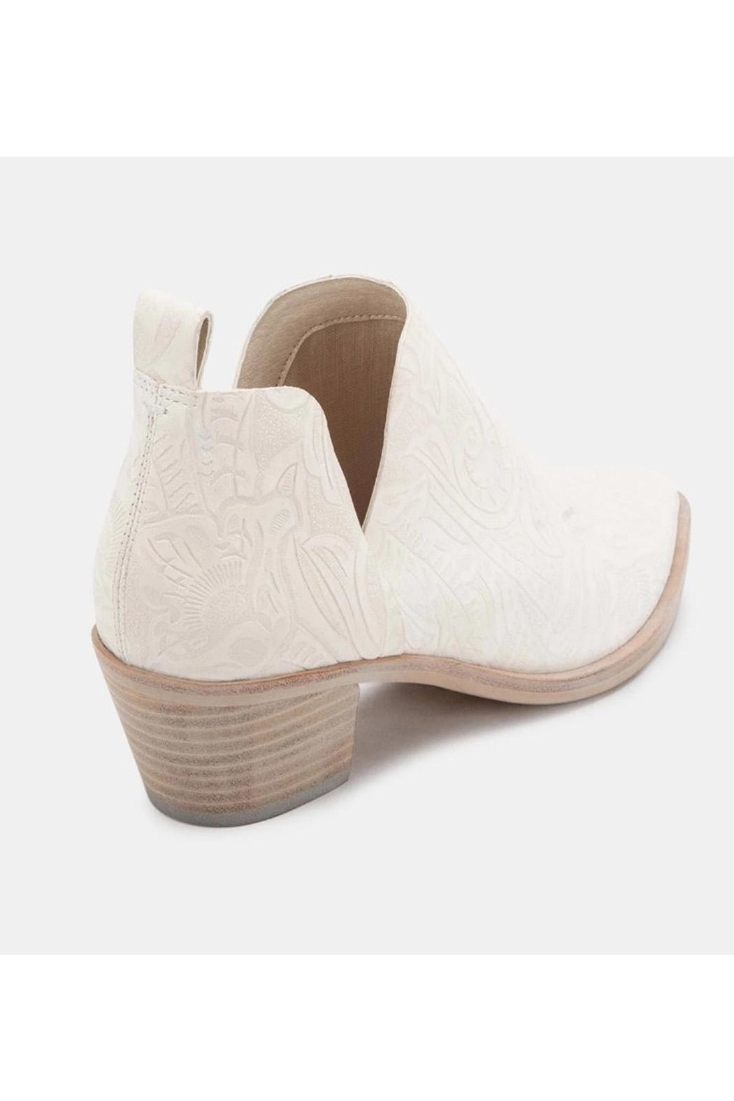 Dolce Vita White Leather Booties - Front Full Image