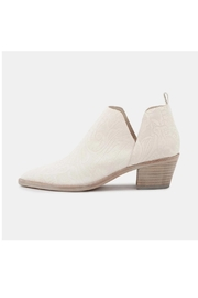 Dolce Vita White Leather Booties - Front cropped