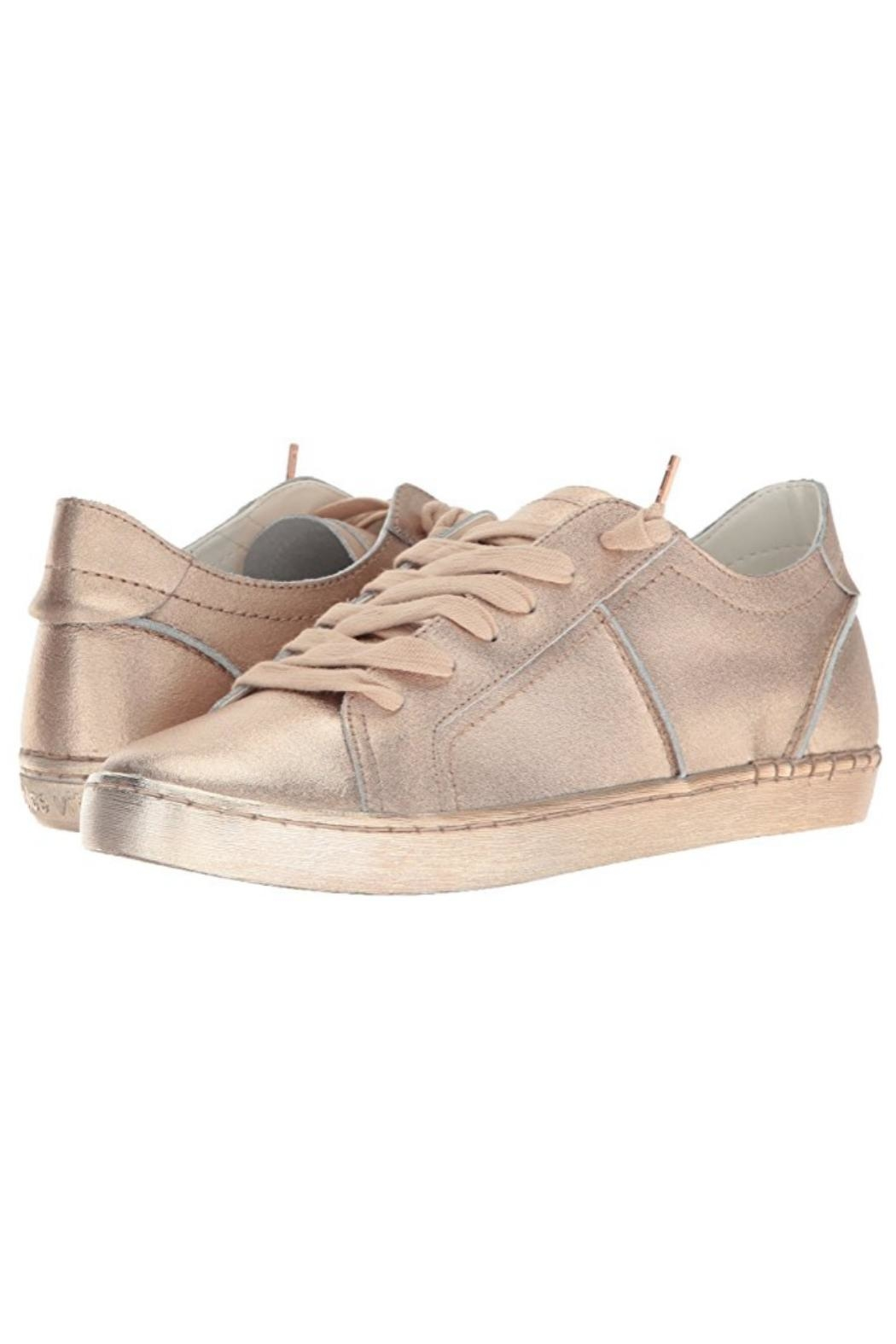 Dolce Vita Zalen Metallic Lace Up Sneaker - Front Cropped Image