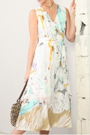 Dolcezza Abstract Watercolor Linen Dress - Product Mini Image