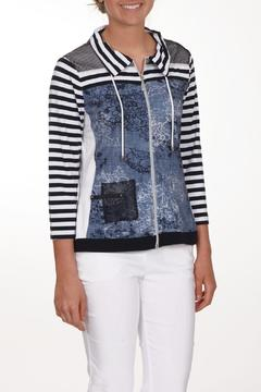 Dolcezza Blue Striped Jacket - Product List Image