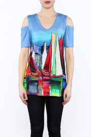 Shoptiques Product: Cold-Shoulder Tunic Top - Side cropped