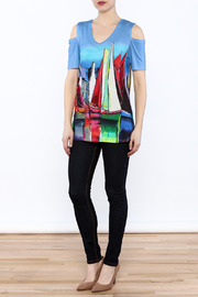 Shoptiques Product: Cold-Shoulder Tunic Top - Front full body