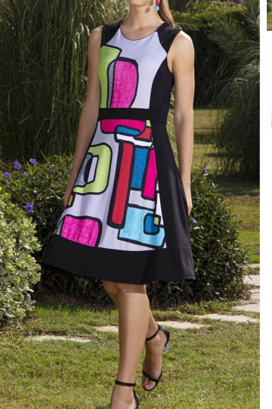 Dolcezza Color Block Dress - Front Full Image