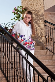 Dolcezza Floral Zip-Up Jacket - Product Mini Image