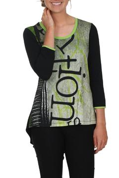Shoptiques Product: Green Graphic Top