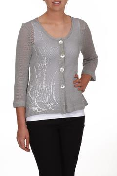 Dolcezza Grey Mesh Cardigan - Product List Image