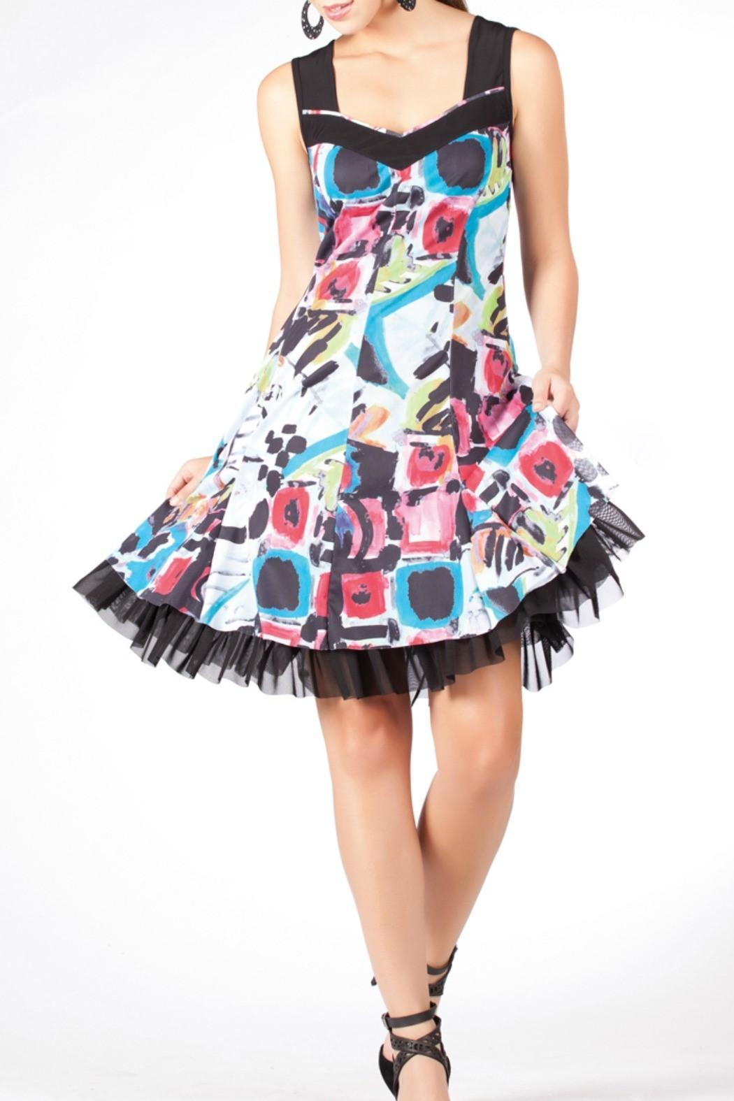 Dolcezza Multi-Color Dress - Front Full Image