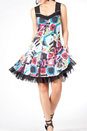 Shoptiques Product: Multi-Color Dress - main
